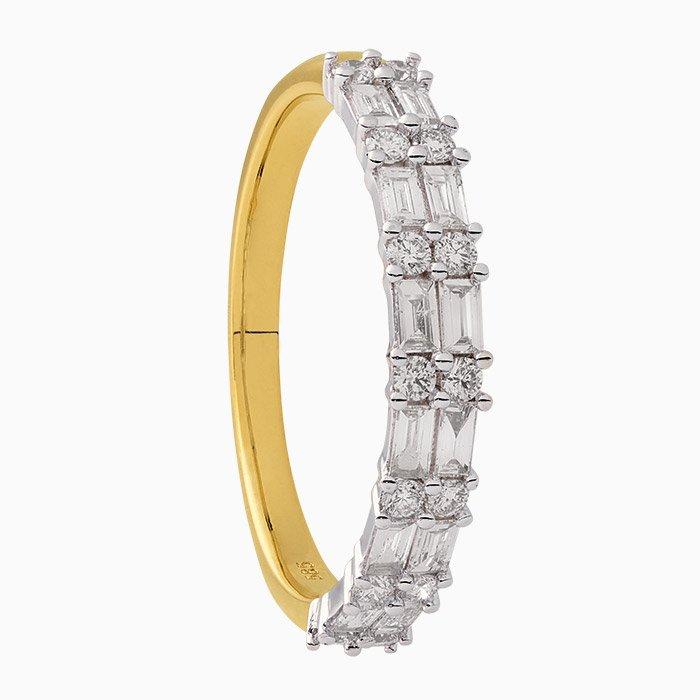 R1090 bicolor gouden ring met diamant