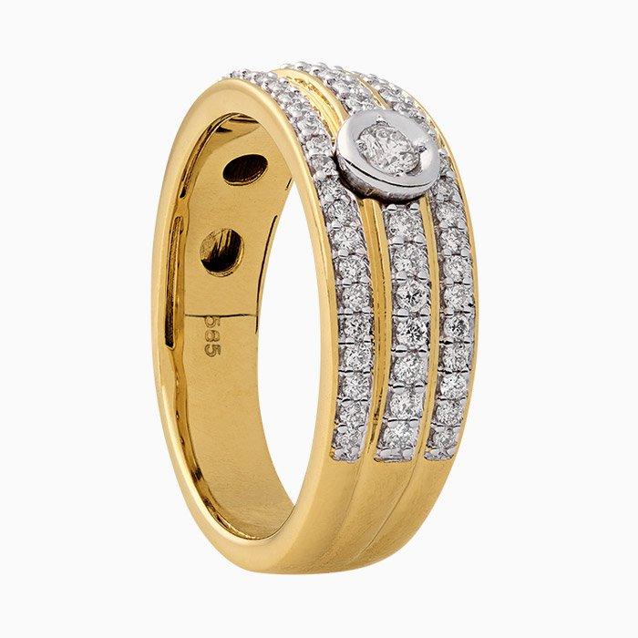 R1095 Ring met diamant