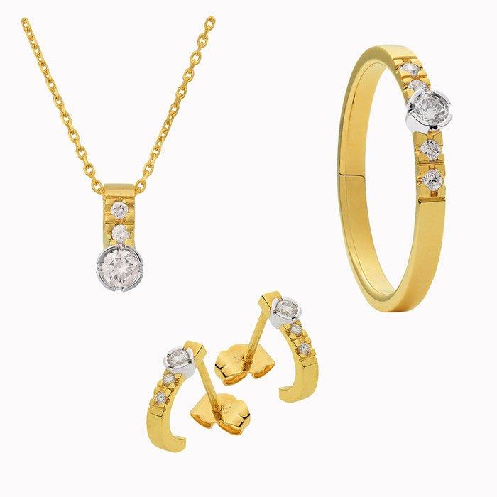 amore set gouden sieraden