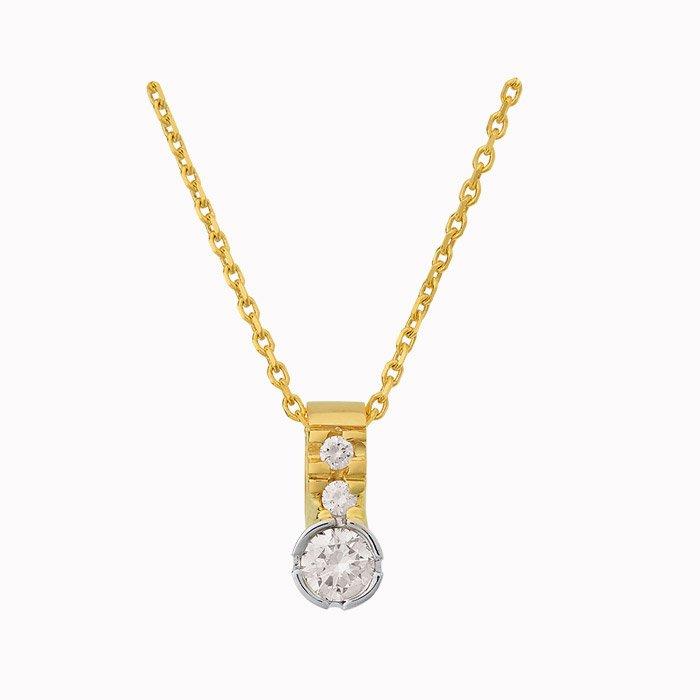 Gouden hanger met 0,50 crt diamant