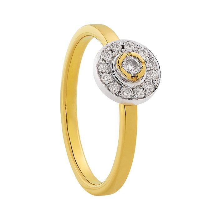 Gouden ring met 0,20 crt. diamant